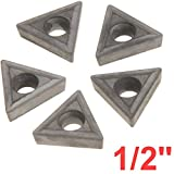 Anytime Tools 1/2'' C6 Carbide Insert for Indexable Lathe Toolholder, 5-Pack