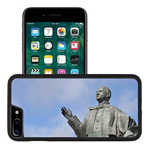Paul Pope Statue (Liili Apple iPhone 7 plus iPhone 8 plus Aluminum Backplate Bumper Snap iphone7plus/8plus Case bronze statue of Pope John Paul VI in Leiria Portugal Photo 7783231)
