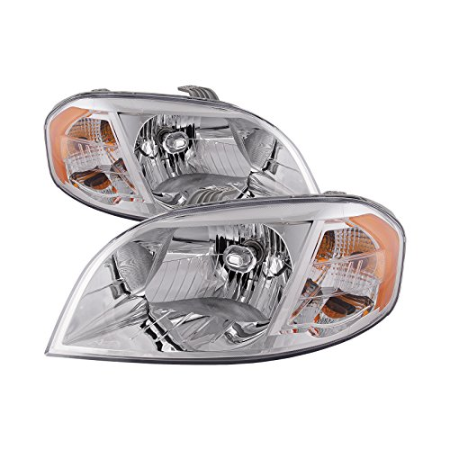 (Headlights Depot Replacement for Chevrolet Aveo Headlight OE Style Replacement Headlight Driver/Passenger Pair)