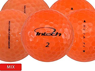 24 Assorted Orange Mix - Value (AAA) Grade - Recycled (Used) Golf Balls