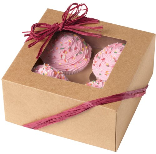 Wilton Kraft 4 Cavity Cupcake Boxes, 3 Count