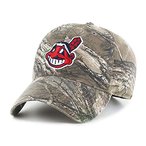 47 Cleveland Indians Real Tree Camo Adjustable Clean Up Cap