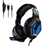 Gaming Headsets, ELEGIANT Over-Ear Computer Gaming Headphones with Microphone, Bass Stereo Surround Sound Volume Control, Compatible with PS4 Pro/PS4 Xbox One Nintendo Switch PC Mobilephone Laptop Mac For Sale