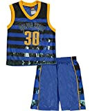 Mad Game Little Boys'Golden State Stripes 2-Piece Outfit - yellow multi, 4