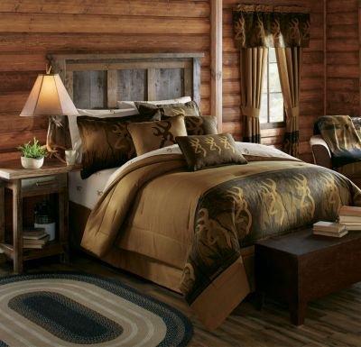 (Browning Oak Tree Buckmark Comforter Set (Queen))