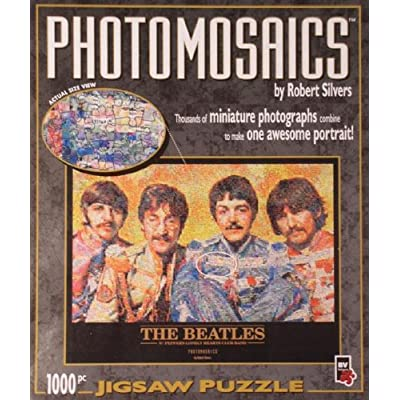 Photomosaics 1000 Piece Jigsaw Puzzle The Beatles By Robert Silvers By Bv Leisure