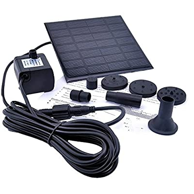 Energy Controllers solar powered outdoor lights Solar Water Panel Power Fountain Pump Kit Pool Garden Pond Watering Submersible solar powered charger