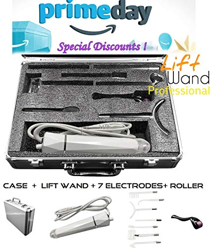- Lift Wand Professional High Frequency Machine Includes 7 Electrodes, Roller and Alumimum Case, Anti Aging Device, Diminish Wrinkles, Scars, Dark Circles, Breakthrough Device for Beauty, Anti Aging
