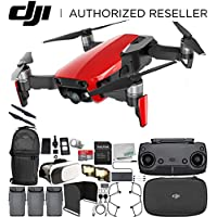 DJI Mavic Air Drone Quadcopter (Flame Red) EVERYTHING YOU NEED Ultimate Bundle