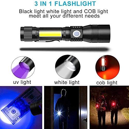 Morpilot Handheld Flashlight, 2 in 1 UV Tactical