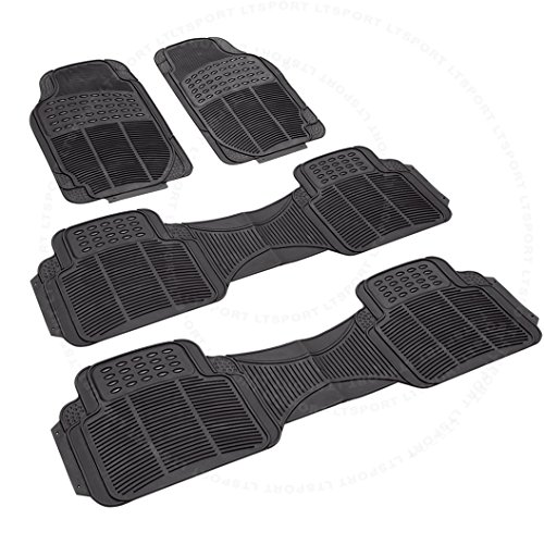 SN#100000000776-0844-308 For Nissan/Oldsmobile 3-Row Rubber Floor Mats 4pcs