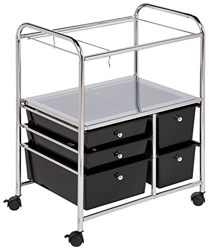 Honey-Can-Do CRT-01512 5-Drawer Hanging File Cart (Rolling File Folder)