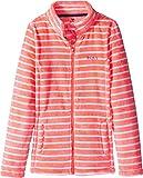 Roxy Big Girls' Igloo Polar Fleece Full Zip Jacket, Neon Grapefruit_Teddy Stripe, 14/XL