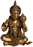 Idol Collections Hanuman in Blessing Pose Statue Brass, Standard, Golden