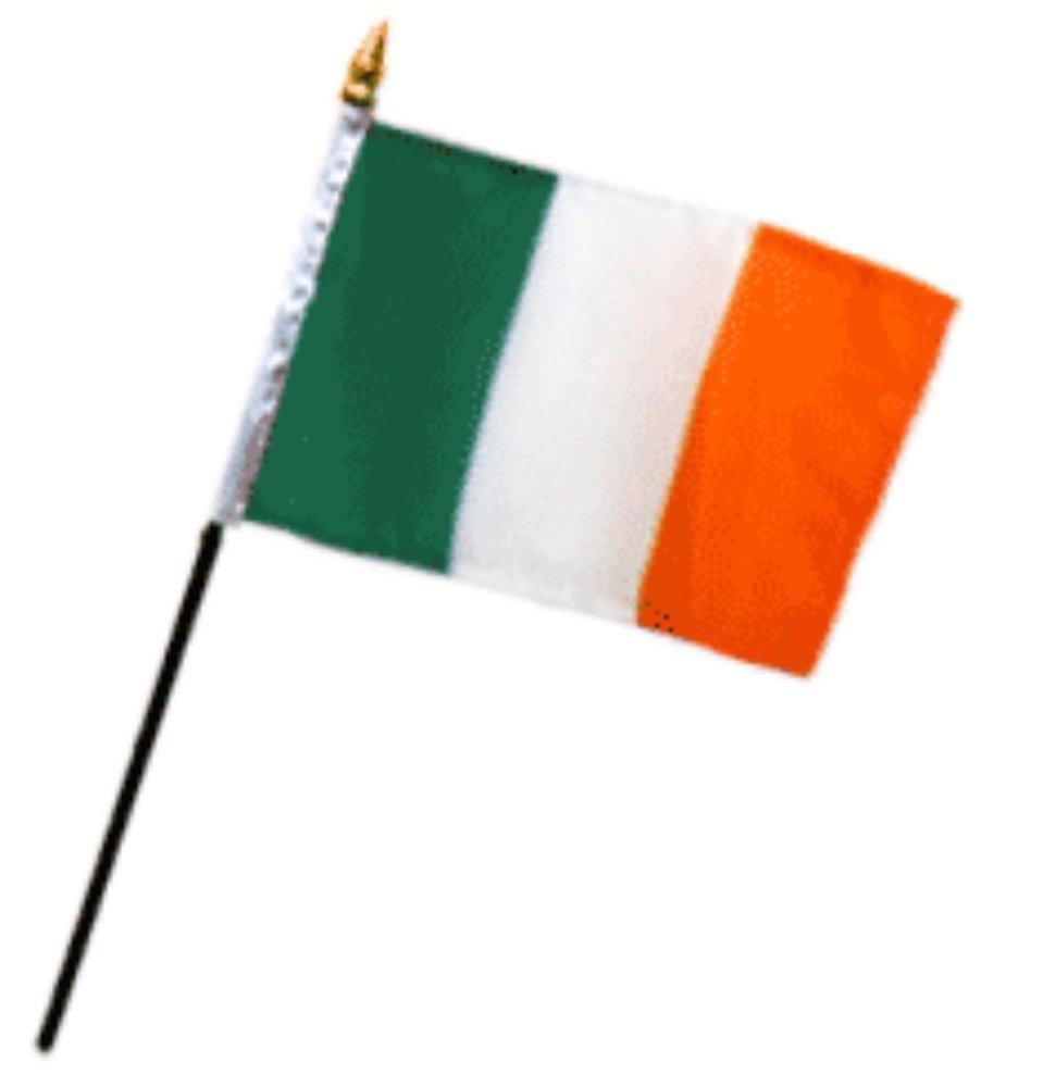 Ireland Plain 4''x6'' Desk Stick Flag (No Base) (1 Flag)