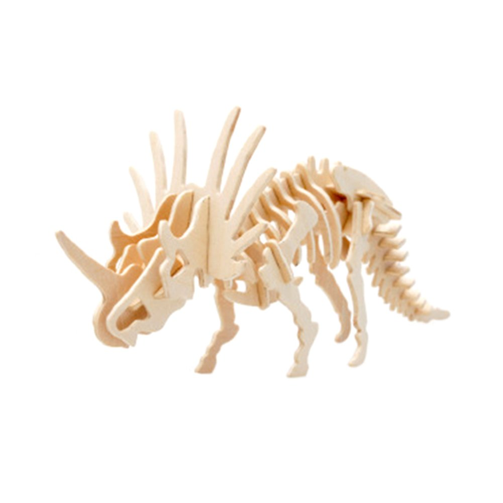 Rely2016 Wood 3D Dinosaur Wooden Puzzle Robot Toy, and Wood Toy, DIY Craft Dinosaur Styracosaurus Puzzle Toy Kit Perfect Educational Gifts for Boys and Girls B071VH638H, カリス成城@ここちeくらしShop:2a1f3411 --- m2cweb.com