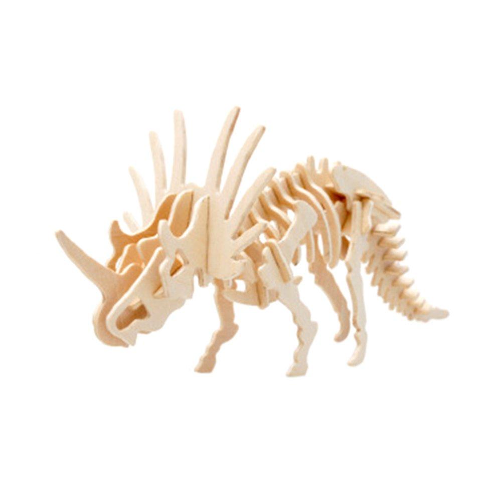 【国産】 Rely2016 3D and Dinosaur DIY B071VH638H Wooden Puzzle Robot Toy, Wood DIY Craft Dinosaur Styracosaurus Puzzle Toy Kit Perfect Educational Gifts for Boys and Girls B071VH638H, すりいでぃ:5398f5ab --- a0267596.xsph.ru