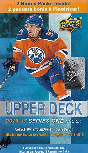 2016-2017-upper-deck-nhl-hockey-series-one-factory-sealed-unopened-blaster-box-of-12-packs