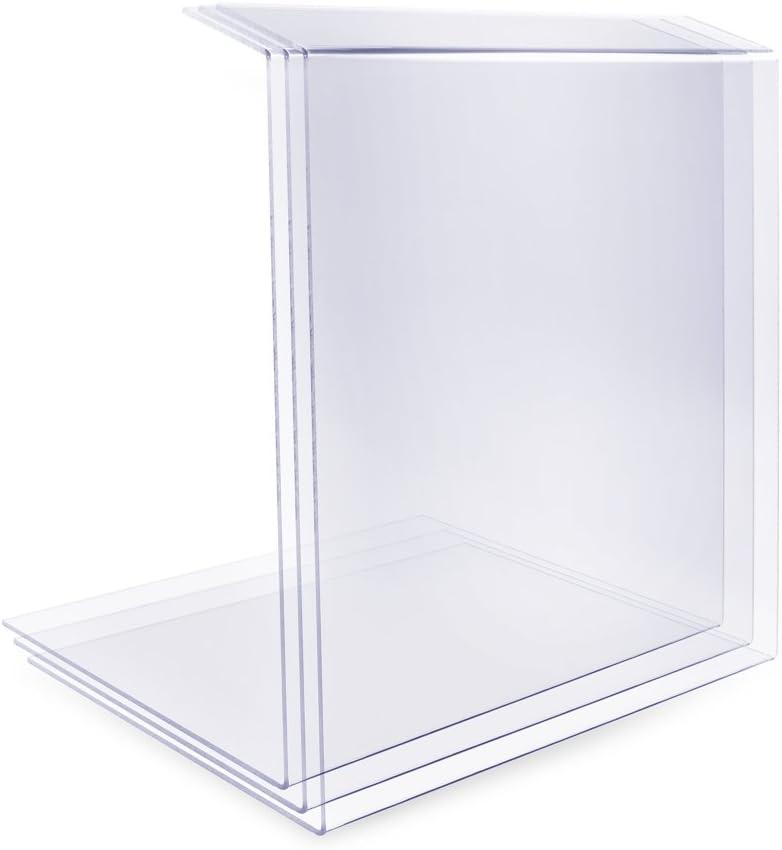 A+H Vitrine de protection alimentaire Sur-vitrine Type2 comptoire de vente et de g/âteau Longueur 80cm// /Épaisseur 6mm Vitrine en verre transparent