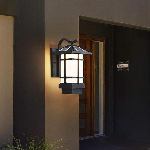 Aplique LED retro, solar, a prueba de agua, adecuado para jardines, patios, villas, apliques de pared de pasillo: Amazon.es: Iluminación