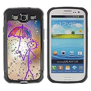 """Hypernova Defender Series TPU protection Cas Case Coque pour Samsung Galaxy S3 III I9300 [Dibujo Madre Crayon Arte Stick Figure""""]"""