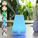 100ml Aromatherapy Essential Oil Diffuser With 7 Color LED Lights Changing and Waterless Auto Shut-off Function for Home Office Bedroom Room -Mini Kitty