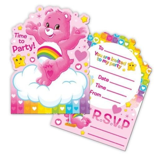 Care Bears Invitations with Envelopes - Pack of 6