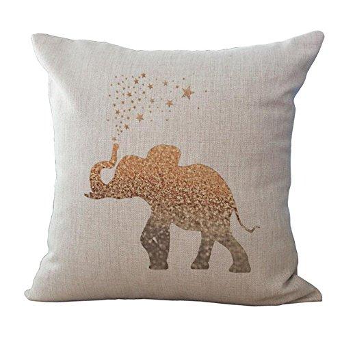 ME COO Elephant watercolor blue living room elephant stars h