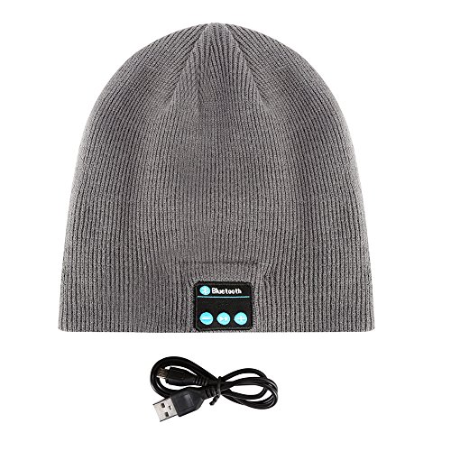 Leezo Soft Smart Wireless Bluetooth Music Warm Knitted Beanie Hat Headphones Caps