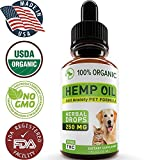 Hemp Oil for Dogs and Cats - Full Spectrum Hemp Extract 250mg - Grown & Made in USA - All Natural Pain Relief for Dogs, Stress & Anxiety Support, Calming, Hip & Joint Health - Easily Apply to Treats