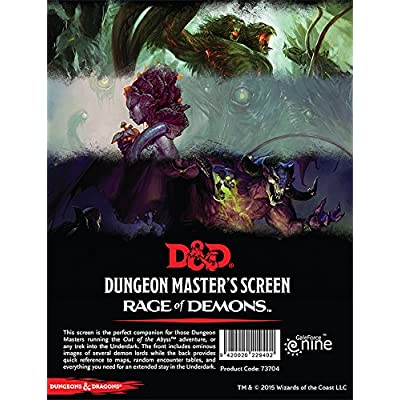 "Dungeons & Dragons - ""Out of the Abyss"" DM Screen: Toys & Games"