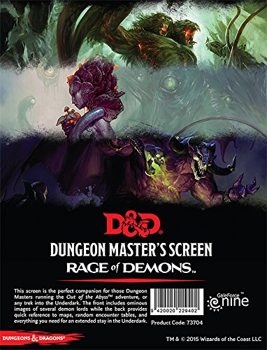 Dungeons & Dragons Rage of Demons: Dungeon Master's Screen GF9 73704 73704BFM