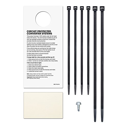 CURT 56049 Vehicle-Side Custom 4-Pin Trailer Wiring Harness for Select Hyundai Elantra, Hyundai Sonata, Kia Optima (Conduit Feed Connector)