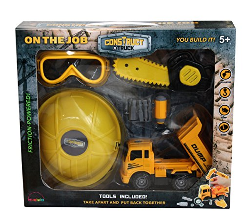 Construct a Truck–On the Jobセット–ダンプ。Take the Truck Apart & Put It Back Together + Friction Powered +追加のRole Playingツール( Like 3-toys-in-1。 )Award Winningセットthat encourages創造性。