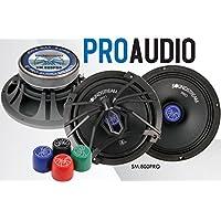 Soundstream SM.800PRO 8 Inch 200 Watts RMS Pro Audio MID-Range Speakers PAIR 4 Ohm (400W Max)