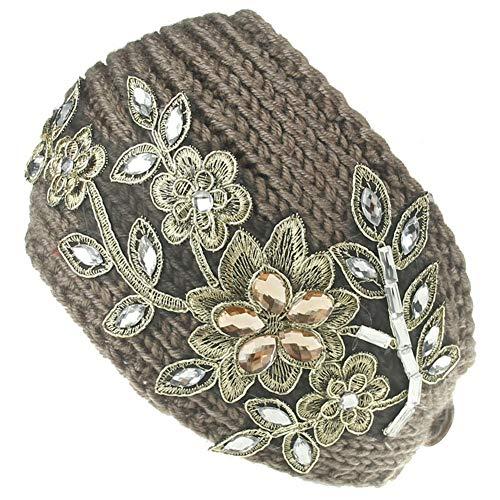 MOPOLIS Womens Winter Knitted Ear Warmer Knot Headband Crochet Bow Wool Hat Hairband | StyleID - Style 102
