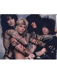 Motley Crue (Vince Neil, Mick Mars, Tommy Lee & Nikki Sixx) signed 8x10 photo