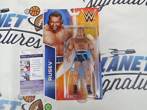 Alexander Rusev signed WWE licensed toy action figure JSA COA (Signed Action Figures)