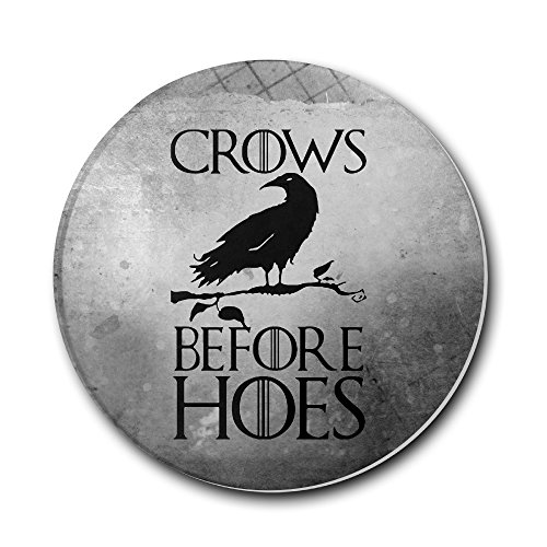 ROBOTOAF Game Of Thrones Crows Before Hoes One Size Durable Teacup Mat-Keep Furniture Safe From Damage