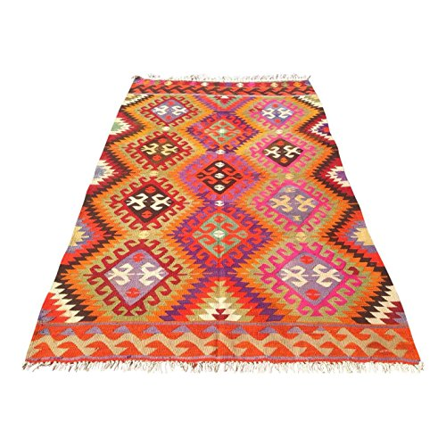 Vintage Turkish Kilim Rug - 5′10″ × 8′11