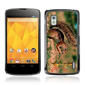 Designer Depo Hard Protection Case for LG Nexus 4 E960 / Squirrel Smoking