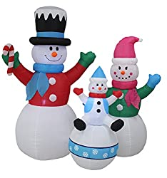 6 Foot Tall Christmas Inflatable Snowman Snowmen Family...