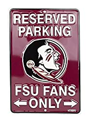 Florida State Seminoles Fans Parking Only Metal Sign 8 x 12 embossed