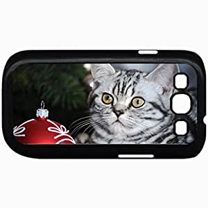 Fashion Unique Design Protective Cellphone Back Cover Case For Samsung GalaxyS3 Case Christmas Kitty 2 Black