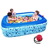 Bathtubs Freestanding Infant Children Inflatable Pool Family Ultra-Large Marine Ball Pool Thickened Household Large Adult Paddling Pool (Size : 160cm(62.9 inches))
