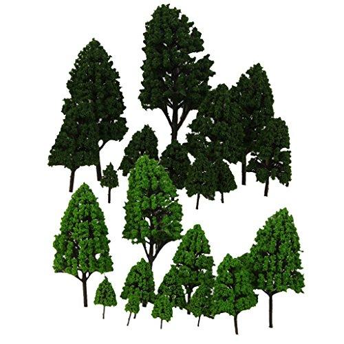 Jili Online 24x Multi Scale Poplar Tree Model Train Railway Park Layout Scenery O HO N Z