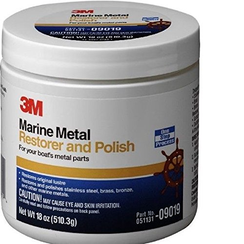 3M 09019 Marine Metal Restorer and Polish (18-Ounce Paste) by 3M (Image #1)