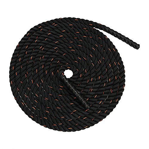 CASL Brands Heavy Battle Ropes 1.5 Inch Thick - for Workout, Exercise, Fitness, and Training - 30 ft, 40 ft, 50ft Size Options
