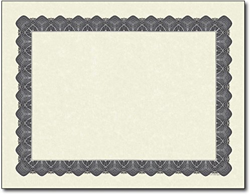 Masterpiece Studios Silver Paper - Masterpiece Silver Parchment Certificate - 11 x 8.5 - 100 Sheets