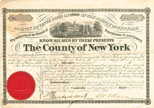 (County Revenue Bond of 1860 of the County of New York)